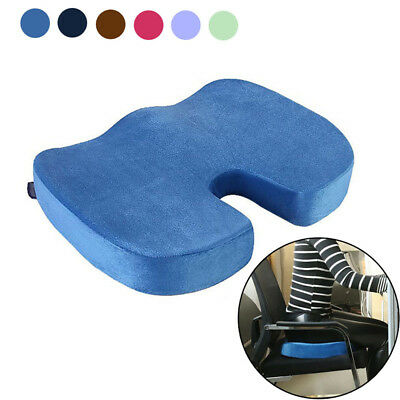 Memory Foam Seat Cushion Back Sciatica Coccyx Tailbone Pain Relief Pillow for Of
