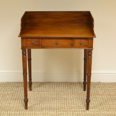 Victorian Mahogany Antique Writing Table / Wash Stand