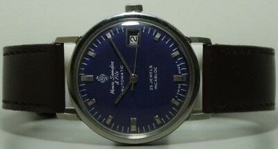 Vintage Sandoz Automatic Date Swiss Made Wrist Watch s448 Old Antique Used