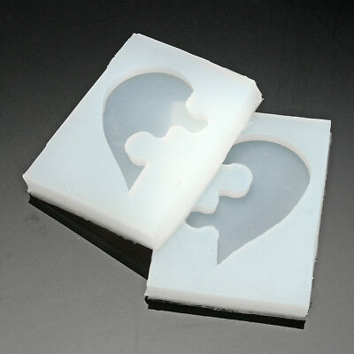 DIY Jewelry Beading Casting Mold Silicone Clear Resin Crystal Mold Square Heart