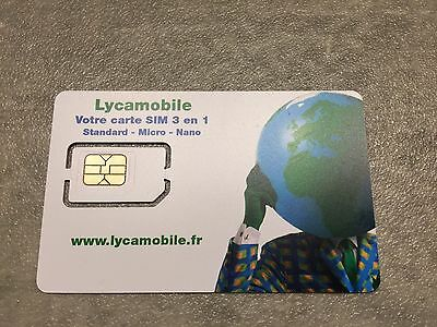 1 1 Sim Karte.Prepaid Sim Karte Lycamobile France Frankreich New 3 In 1