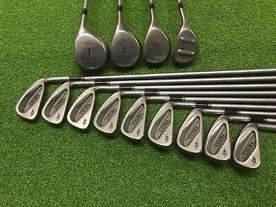 NICE Wilson Golf ULTRA SR 13 PC GOLF SET Right Graphite DRIVER Wood IRONS SENIOR