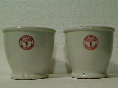Vintage 1940's-50's-60's US Army Medical Department Thick Heavy Ceramic Cups