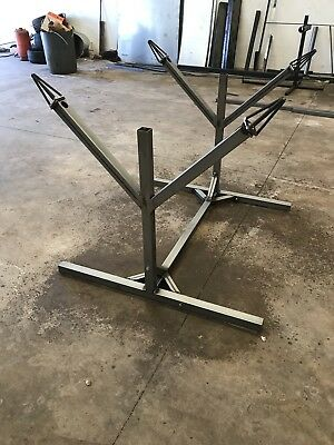 Alloy Wheel Stand Preperation And Spraying With Castors Heavy Duty