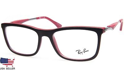 9665499a23981 NEW RAY BAN RB7029 5259 MATTE BLACK  RED EYEGLASSES GLASSES 7029 53 ...
