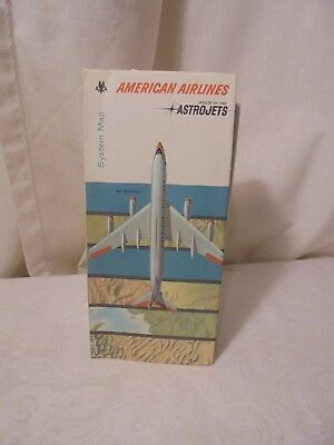 VINTAGE AMERICAN AIRLINES SYSTEM MAP Route of the Astrojets