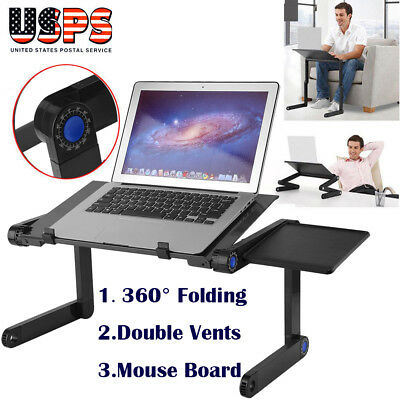 Portable Folding Laptop Notebook Table Stand Tray Desk Mouse Board - Sofa Bed TO