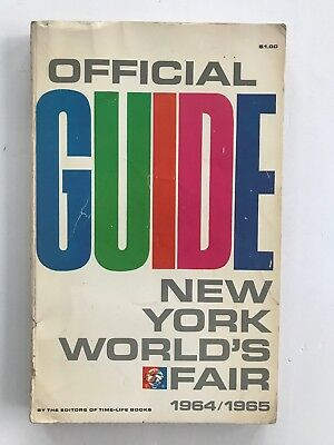Official GUIDE New York Worlds Fair 1964/1965 Book Vintage