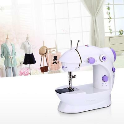 Mini Household Purple Electric Sewing Machine 2 Speed Adjustment 100-240V USA