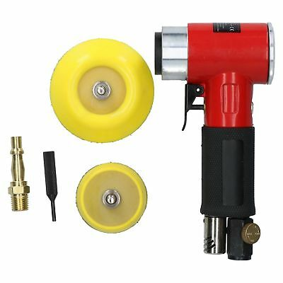 "Mini Air Angle Grinder Polisher and 2"" 3"" Backing Pad 200 Mixed Grit Discs 8328"