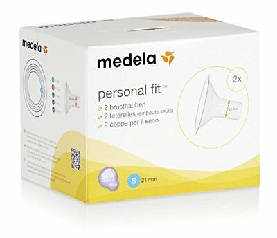 2 Medela Personal Fit Breast Pump Shields Small 21mm Freestyle Swing Swing Maxi