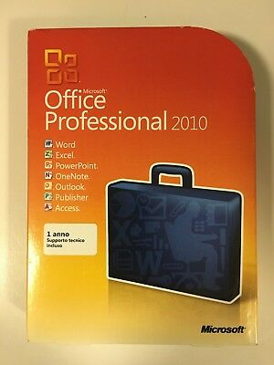 Microsoft Office Professional 2010 32/64 Bit Retail Italian DVD 269-14679