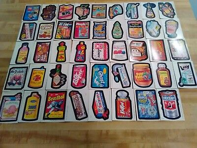 1985 Topps Wacky Packages Complete Sticker Card Set  1 thru 44 EX