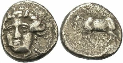 FORVM Thessaly Greece Drachm Late 4th Early-3rd Century BC Facing Nymph / Horse