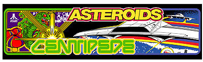 Arcade Centipede Asteroids 1Up Marquee For Reproduction Header/Backlit Sign