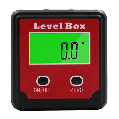 LCD Digital Protractor Angle Gauge Finder Bevel Box