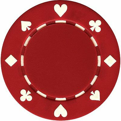 50 Clay Composite Suited 11.5-Gram Poker Chips (RED)