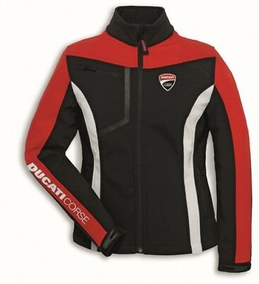 Ducati Original Motorrad STOFFJACKE CORSE 2 Windproof Damen Windstopper Softshel
