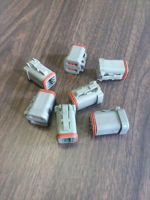 7 Each Deutsch 6 Pin Waterproof Electrical Wire Connector Plug DT06-6S-C017