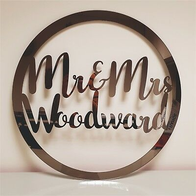 custom personalised wedding, baby shower, birthday, party event mirror sign