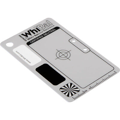 "GENUINE WhiBal G7 Certified Neutral White Balance Card -Pocket Card (2.1""x3.35"")"