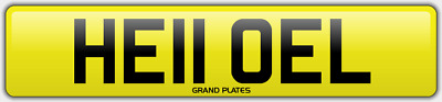 EL INITIALS number plate Hello CHERISHED REGISTRATION NO ADDED FEES HE11 OEL REG