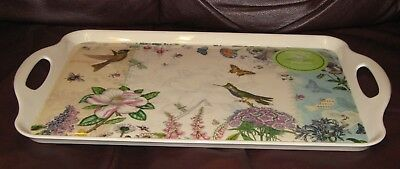 BRANDNEW Portmeirion / Pimpernel Botanic Garden Hummingbird Handled Serving Tray