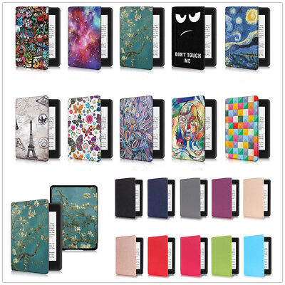 Smart Thin Flip Leather Sleep Awake Cover Case For New Kindle Paperwhite 4 2018