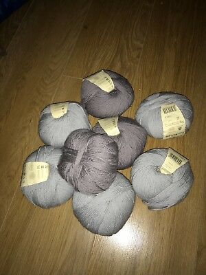 Rowan Yarn: 7 balls 6 x 50g new and 1 Used Light colours see pictures100%Wool