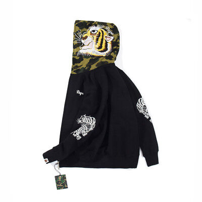 af74d4ad51ad Hot Bathing Ape Bape Shark Jaw Camo Full Zipper Hoodie Men s Sweats Coat  Jacket
