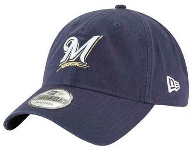 New Era MLB Milwaukee Brewers Baseball Hat Cap 920 Core Classic Navy 11417795