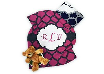 Personalized Monogram Knit Baby Blanket - Personalized Gift - Childrens Gift