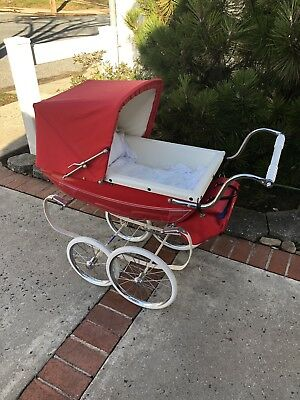 Vintage Red Baby Doll Carriage Staten Island pick up Toy Rare