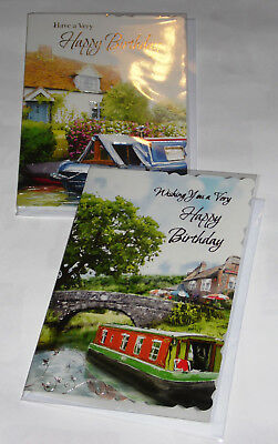 MALE BIRTHDAY CARDS X 12, just 28p per card, FOILED,WRAPPED, (HS19