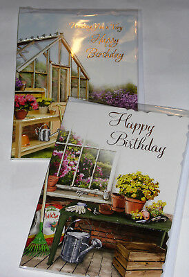 MALE BIRTHDAY CARDS X 12, just 28p per card, FOILED,WRAPPED, (HS20