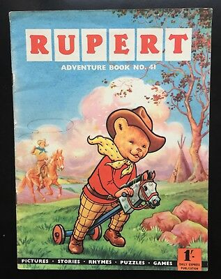 RUPERT Adventure Series No 41 Adventure Book Pub 1960 VG Plus JANUARY SALE!