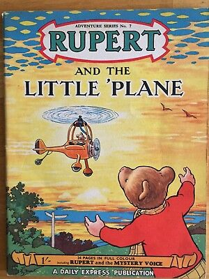 RUPERT Adventure Series No 7 The Little Plane pub September 1950 VG/F JAN SALE!