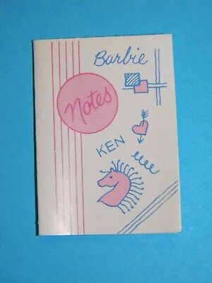 Vintage 1984 Barbie My First Barbie Doll Easy On Fashion #7918 Notebook