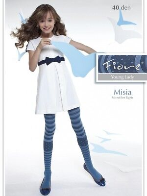 New Girls Teens Misia 40 Denier Young Ladies Fashion Colorful Tights S,M,L,