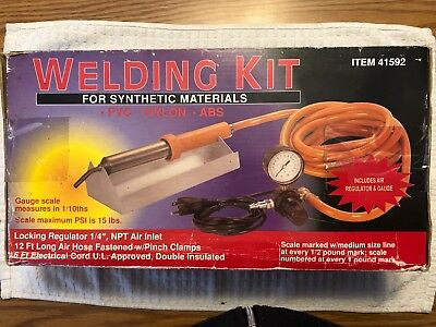 Welding Kit for Synthetic Materials  Plastic Welder Heat Gun