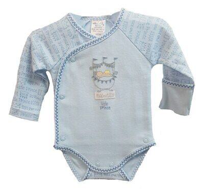 Max and Tilly Preemie Long Sleeve Bodysuit Little Prince