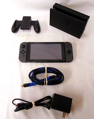 Nintendo Switch 32Gb Console - Grey Joycon - With Carrying Case