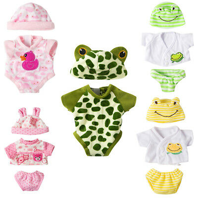 1 Suit Baby Doll Jumpsuit with Hat Doll 18 Inch Doll Clothes Gift In UK