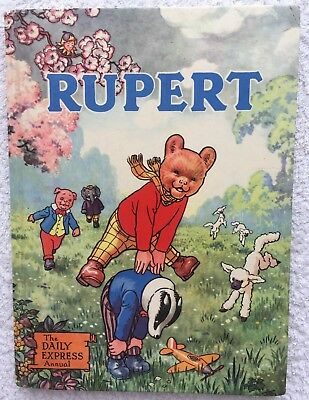 RUPERT BEAR ANNUAL 1958 ORIGINAL Inscribed NOT Price Clipped VG/FINE JAN SALE!
