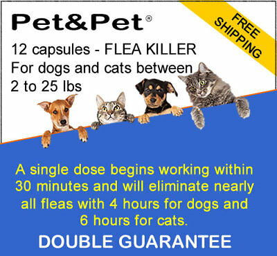 Pet&Pet-12 capsules-Flea killer _NITENPYRAM_ for dogs & cats 2-25 lbs