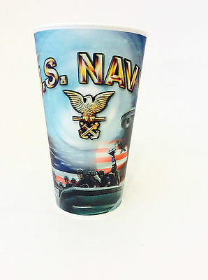 U.S. Navy 3-D Animation Spirt Cups, Military Designed Plastic Cups, One (1) Cup