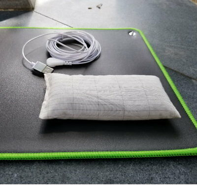 Grounding Desk Yoga Reiki Mat EMF protection for health 68*25cm with mouse wrist