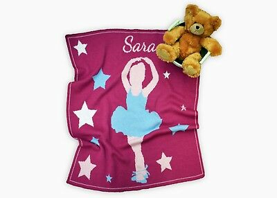 Personalized Ballerina Knit Baby Blanket - Personalized Gift - Children's Gift