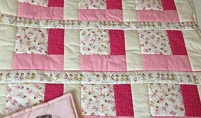 Baby Girl Cot Quilt with ballerinas