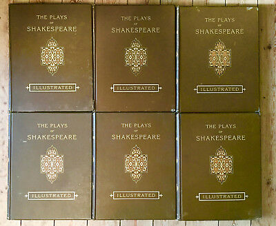 c1890 The Plays of William Shakespeare in 6 Vols - 70 Plates by H. C. Selous